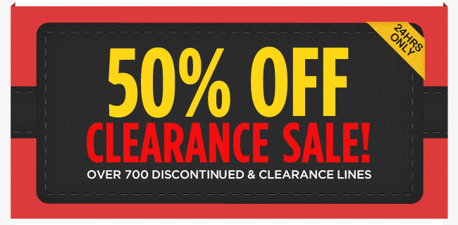 50% Off Clearance Sale 24 Hours Only @ Deals Direct