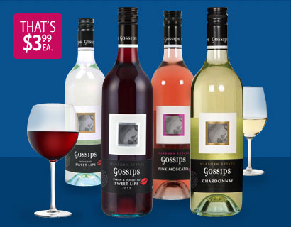 20% Off 6 x 2012 Gossips Wine Range, 1-Day Deal for 23.94$ @ Dealsdirect.com.au