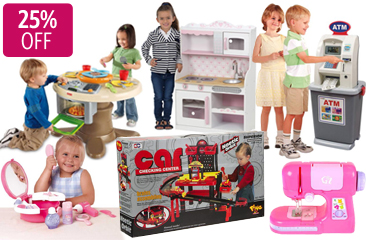 25% Off A Great Range of Pretend Play Toys Range, 1-Day Deal for From 14.96$ @ Dealsdirect.com.au