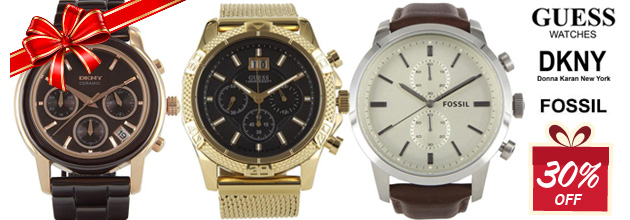 Save 30% OFF All Watches Branded Fossil, GUESS, DKNY, Casio & More at DealsDirect.com.au
